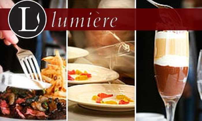 Lumiere - West Newton: $25 for $50 Worth of Modern French Cuisine at Lumière