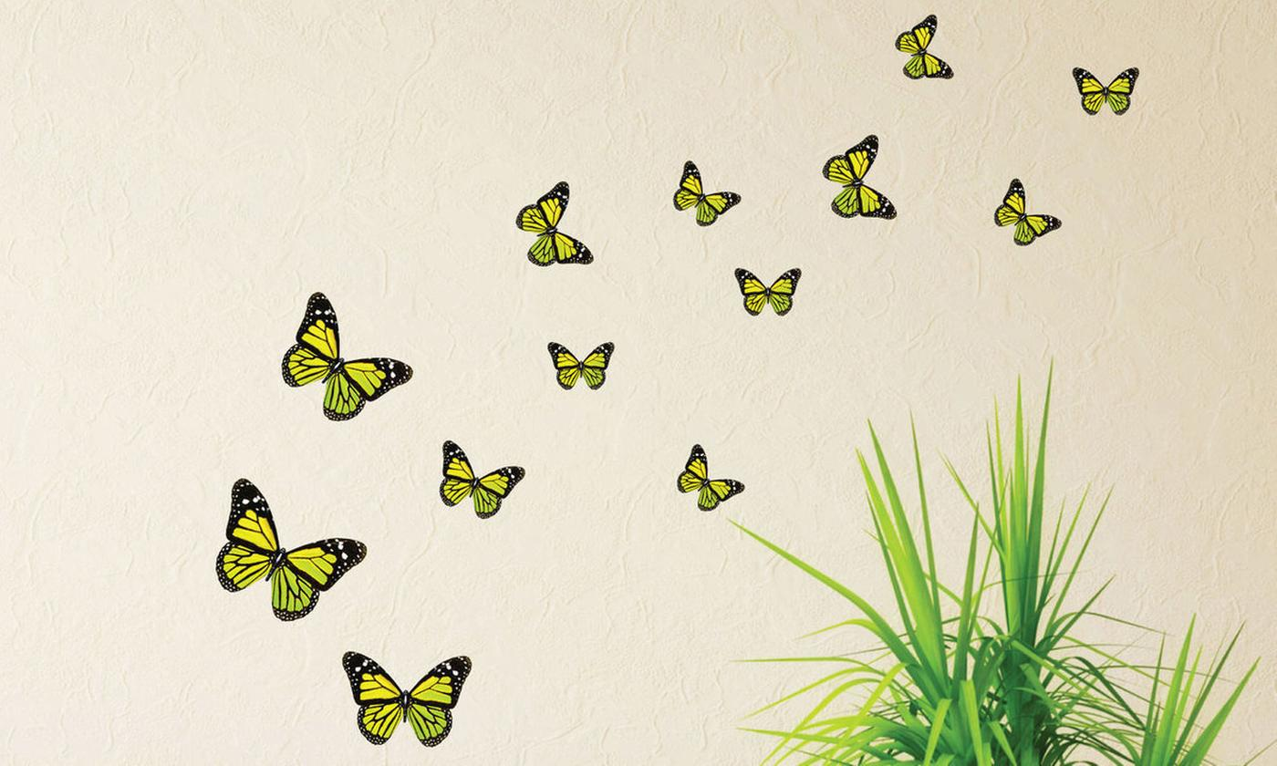 63 Monarch Butterfly Wall Stickers