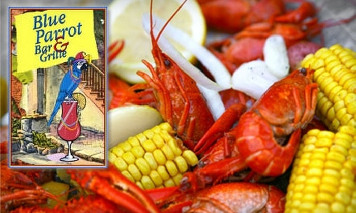 Blue Parrot Bar and Grille - Hilltop: $12 for $25 Worth of Cajun Fare and Drinks at Blue Parrot Bar and Grille