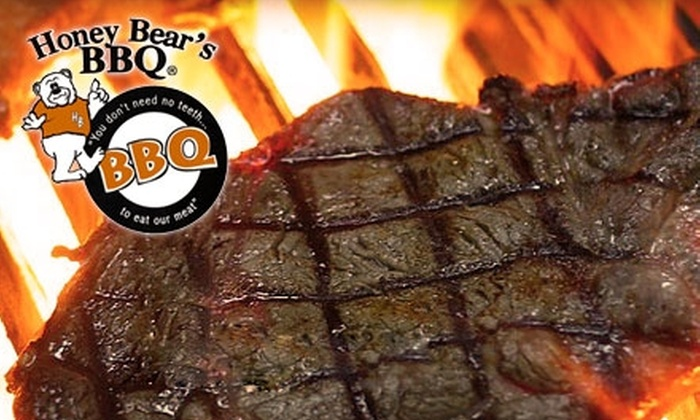 Honey Bear's BBQ - Multiple Locations: $10 for $20 Worth of Southern Barbecue and Drinks at Honey Bear's BBQ. Choose from Three Locations.