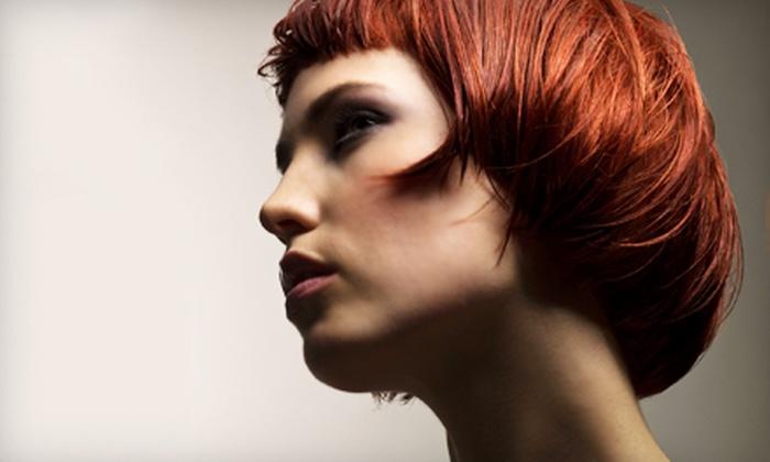 Salon Exposé  - Prairie Village: Haircut, Style, and Coloring or Haircut, Style, and Two-Color Partial Highlight at Salon Exposé in Prairie Village