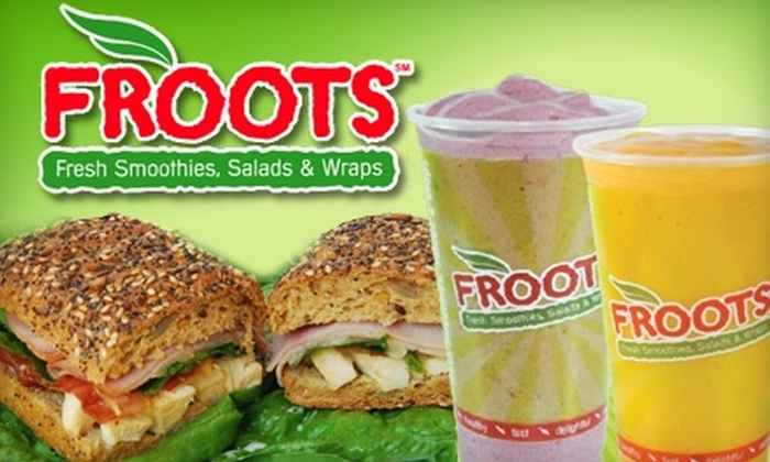 Froots - Downtown: $10 for $20 Worth of Fresh Smoothies and Healthy Eats at Froots