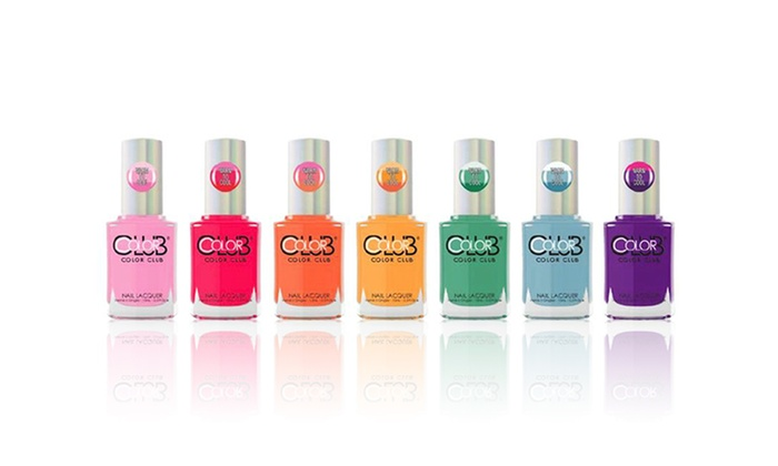 Color Club Heat Index Nail Polish 7 Pack
