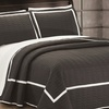 Ellery Hotel Collection Two-Tone Geometrical Quilt Set (2- or 3-Piece)