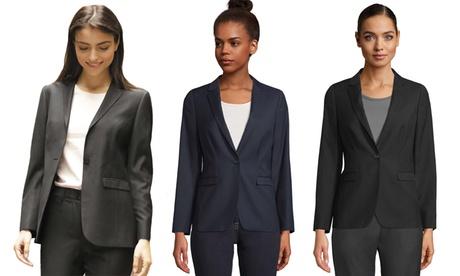 Damen-Anzugjacke Marius in Blau, Schwarz oder Dunkelgrau, inkl. Versand