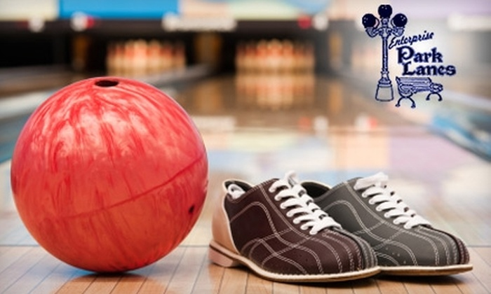 Enterprise Park Lanes - Springfield: $25 for Two Games of Bowling and Shoe Rentals for Up to Five People and One Large Pizza at Enterprise Park Lanes