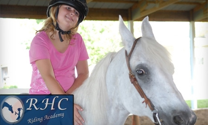 RHC Riding Academy - Christianburg: $15 for a 90-Minute Private Horse-Riding Lesson at RHC Riding Academy in Pleasureville