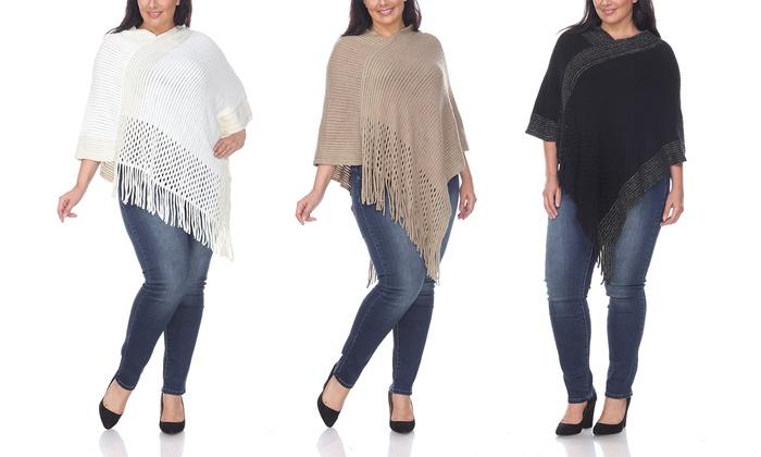 7909c1af405 Women s Plus Size Knit Poncho