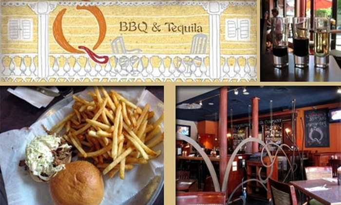 Q BBQ & Tequila - Center City East: $25 Worth of Burgers, Brisket, Drinks, and More at Q BBQ & Tequila