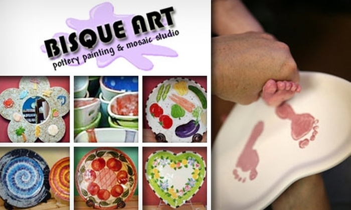 Bisque Art - North Raleigh: $10 for $20 Worth of Pottery Painting at Bisque Art