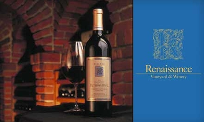 Renaissance Winery - Yuba Foothills: $35 for a Saturday Wine Tasting and Rose Garden Tour for Two at Renaissance Winery in Oregon House (Up to $70 Value)