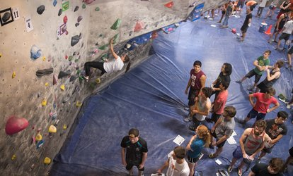 image for Three or Five 1-Day Passes, or 1-Month Membership with 10% Off Retail for One at Austin <strong>Rock</strong> Gym (Up to 43% Off)