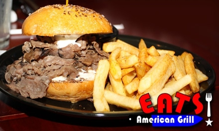 Eats! American Grill - Fairoaks Manhattan Manor: $10 for $20 Worth of Classic American Cuisine and Drinks at Eats! American Grill