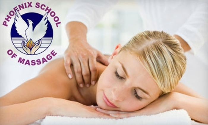 Phoenix Massage Therapy School - Multiple Locations: $30 for Far-Infrared Sauna and Student Massage ($65 Value) or $30 for Student Aromatherapy Massage ($60 Value) at Phoenix Massage Therapy School