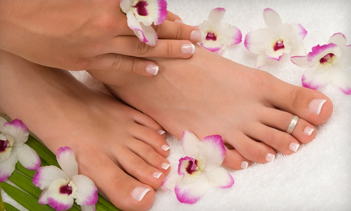 Sanctuary Nail Spa - Near North Side: $35 for No-Chip Manicure and Basic Pedicure at Sanctuary Nail Spa ($75 Value)