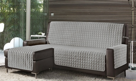 Funda de sofá acolchada con chaise longue derecha e izquierda