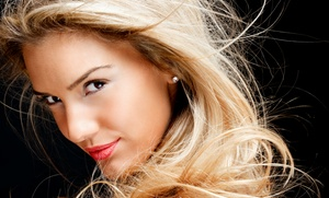 The Red Room Salon And Spa: Haircut with Optional Partial Highlights or Root Touch-Up at The Red Room Salon And Spa (Up to 73% Off)