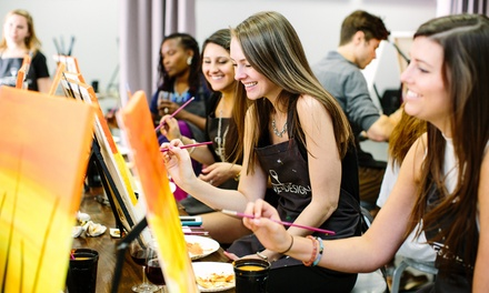 One Adult Admission to a Weekday or Weekend BYOB Painting Class at Wine & Design (Up to 46% Off)