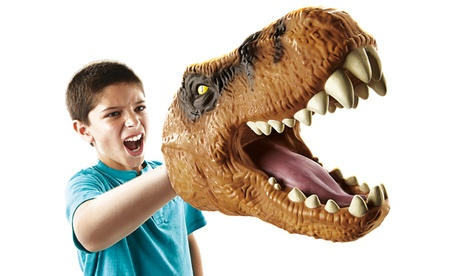 Marioneta de mano Tyrannosaurus Rex de espuma de Jurassic World por 5,99€ Oferta en Groupon