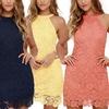 Melanie Women's Bodycon Sleeveless Lace Dress