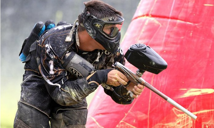 Paintball Action Games - Lambton Industrial: Indoor Paintball Package for 2, 6, or 10 with Gear Rental at Paintball Action Games (Up to 67% Off)