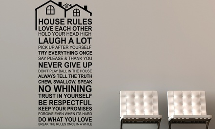 One or Two Walplus House Rules Stickers