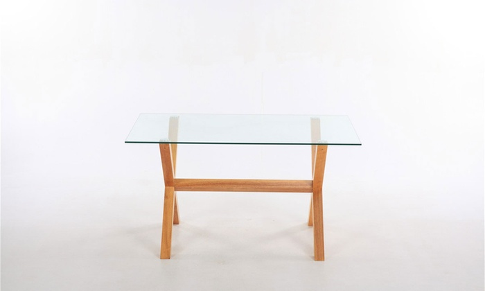 rectangular glass dining table