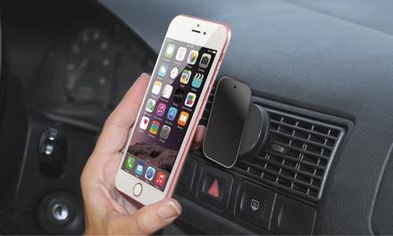 1 o 2 soportes magnéticos adaptables a la rejilla de coche para smartphone