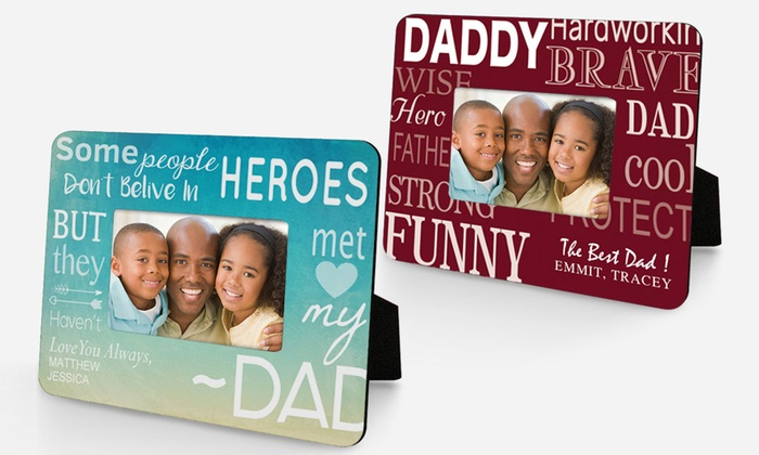 Monogram Online: $19.99 for One Personalized Father Picture Frame from Monogram Online ($39.99 Value)