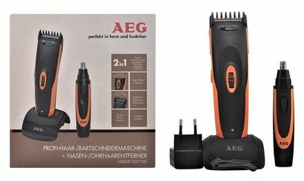 Trimmer multifunzione AEG per barba, capelli, orecchie e naso