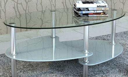 Mesa de centro de diseño exclusivo con 3 estantes
