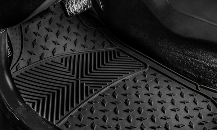 Up To 53% Off on 3-Piece Vinyl Car Floor Mat Set | Groupon Goods