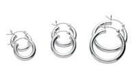 Hoop Earrings in Sterling Silver (3-Pack)