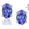 1.00 CTTW Genuine Tanzanite Stud Earrings
