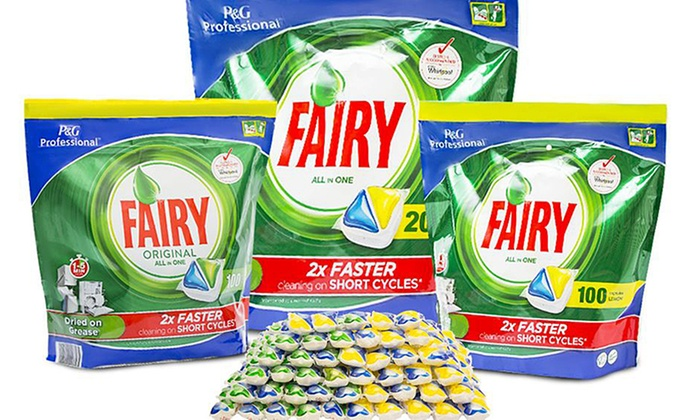 100 or 200 Fairy All-in-One Dishwasher Tablets From £13.50