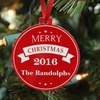 Up to 67% Off Personalized Plastic Holiday Ornaments