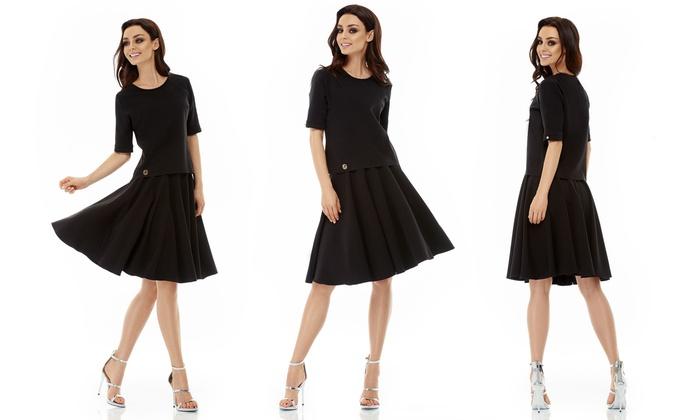 Kleid zweiteiler mit bluse