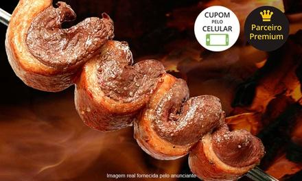 Churrascaria Pampa – 2 endereços: almoço ou jantar com rodízio de carnes, buffet e saladas à vontade