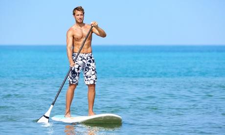 Curso de iniciación al paddle surf para una o dos personas desde 14,90 € en la playa de Las Arenas