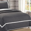 Ellery Hotel Collection Quilted Geometrical Quilt Set (2- or 3-Piece)