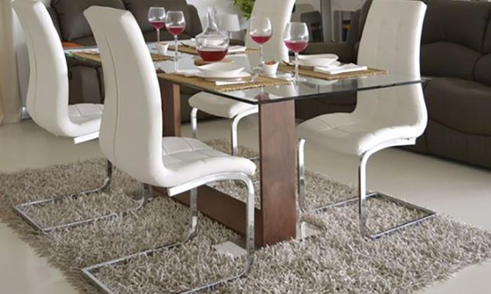 4 sedie da soggiorno Emily | Groupon Goods