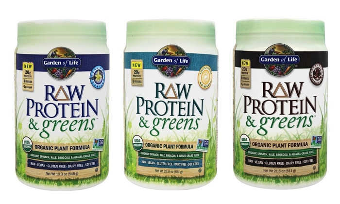 Garden Of Life Raw Protein And Greens Powder 21 6 Oz Groupon