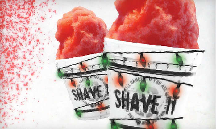 Shave It - Norwalk : Flavored Shaved Ice and Frozen Treats at Shave It (Up to 60% Off). Two Options Available.