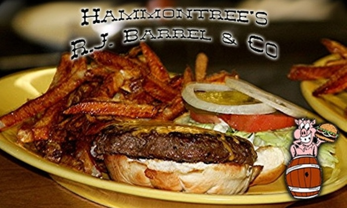 Hammontree's R.J. Barrel & Co. Restaurant - Canton: $7 for $15 Worth of Casual Pub Fare and Drinks at Hammontree's R.J. Barrel & Co. Restaurant