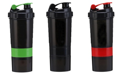 3-in-1 Protein Shaker Bottle: One ($12) or Two ($19)