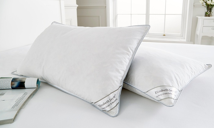 Two, Four or Eight Elizabeth Jayne Duck Feather and Down Pillows From £10