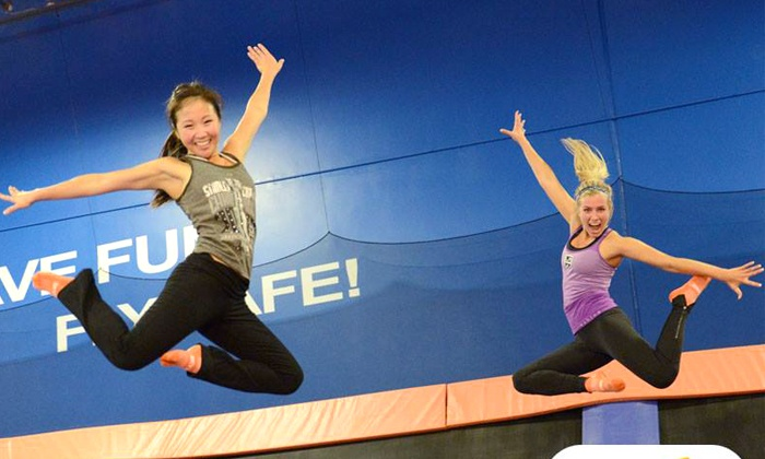 Sky Zone Indoor Trampoline Park - Multiple Locations: Two-Hour Indoor Trampoline Session for Two with Fountain Drinks on a Weekday or Weekend at Sky Zone (Up to 63% Off)