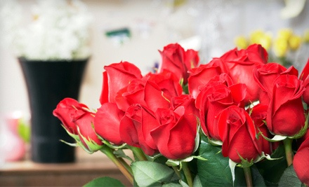 Love Bouquet with 15 Roses, Vase, and Delivery (a $109 value) - Darryl Wiseman Flowers in Atlanta