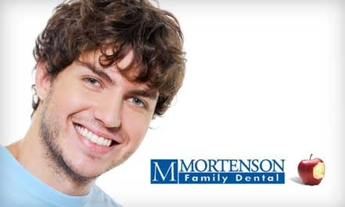 Mortenson Family Dental - Multiple Locations: $79 for Comprehensive Dental Exam, Four Cavity Detection Bite-Wing X-Rays, Oral Cancer Screening, and Teeth Cleaning at Mortenson Family Dental ($257 Total Value)