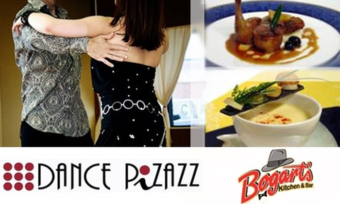 Dance Pizazz & <br>Bogart's Kitchen & Bar - Multiple Locations: $68 for an Evening of Dinner and Dancing for Two at Dance Pizazz and Bogart's Kitchen & Bar